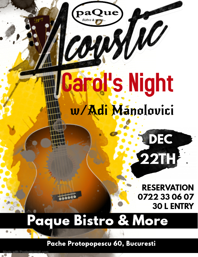 Acoustic Carols Night - 22 decembrie