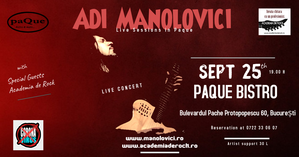 Live Sessions - Paque 25 septembrie 2020